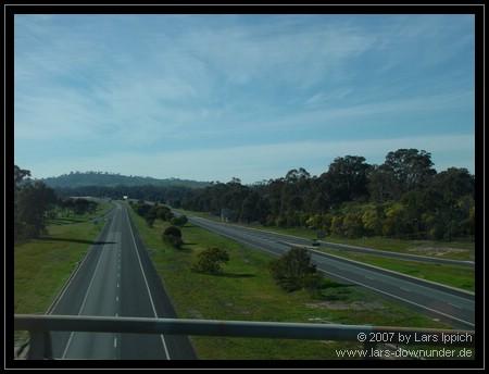 Blick aus dem Bus