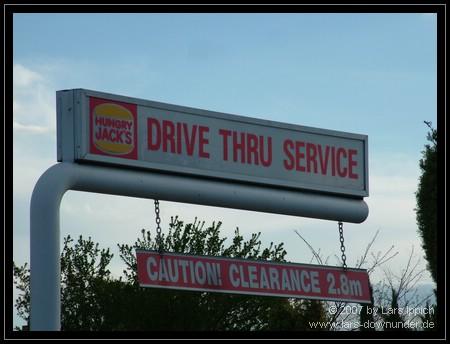 BurgerKing Drive-In auf Australisch