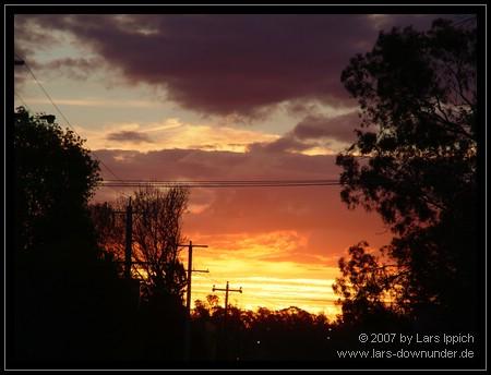 Sonnenuntergang über Shepparton
