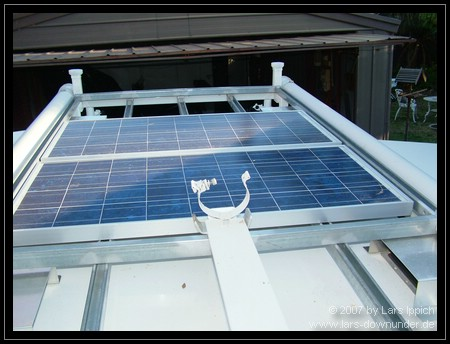 Solarzellen und Masthalterung