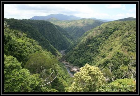 Ausblick aus der Kuranda Rail