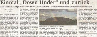 Artikel aus der Nordsee-Zeitung vom 18.08.08