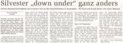 Artikel aus der Nordsee-Zeitung vom 30.12.08